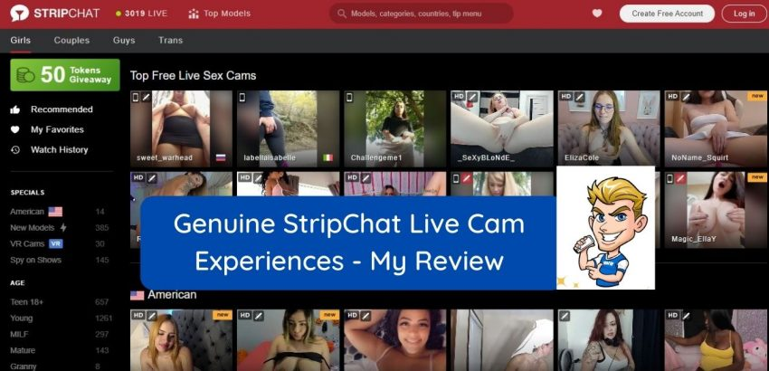 Stripchat homepage